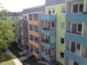 Neue Fassaden und Balkone in der Sonnenstraße, Chemnitz