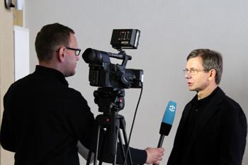 Interview mit Eckhard Heumeyer mit dem Sachsenfernsehen, 2012 Chemnitz
