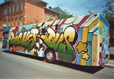 Der Bücherbus vom Verein Fact, Chemnitz