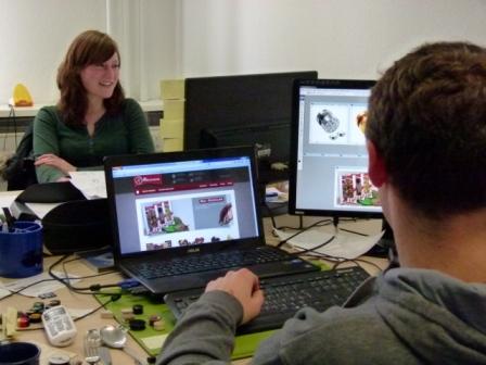 Grafik Schokoladen-Website