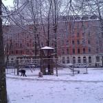 Lessingplatz abgesperrt