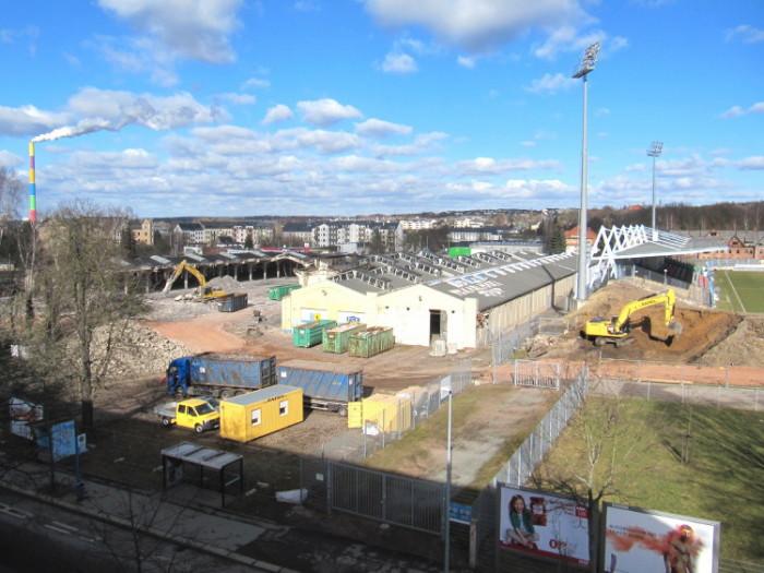 Blick auf die Baustelle am 14. Februar