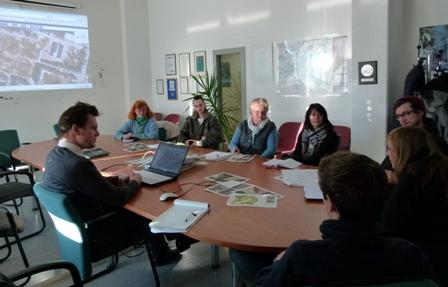 Gesprächsrunde im Grünflächenamt