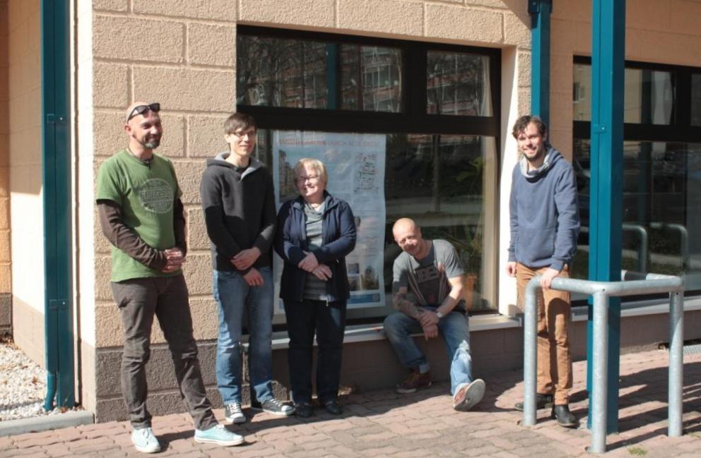 Einige Stadthalter (von links nach rechts):  Jens Rühle, Eric Faß, Renate Albrecht, Christian Greim, Sascha Wagner