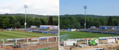 Stadion - Vergleich 14.05.2014 und 22.05.2014