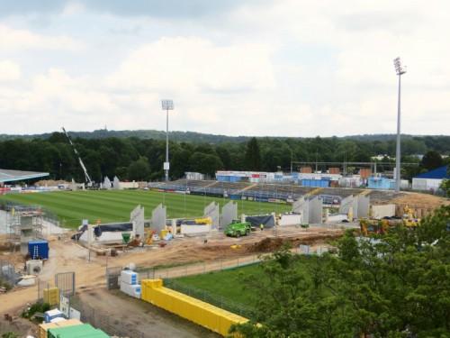 Blick auf das Stadion - 02.06.2014