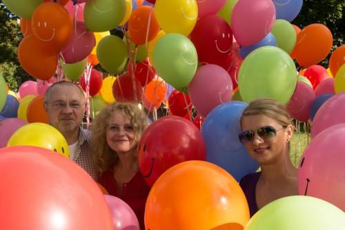 Ballons Sachsenallee mit Dmytro und Hanna