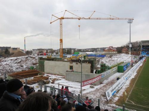 7 - Blick auf die Baustelle Haupttribüne - 31.01.2015 035