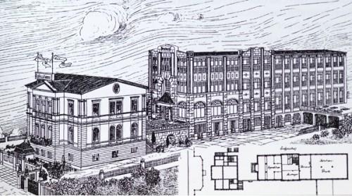 Gebäudekomplex um 1911